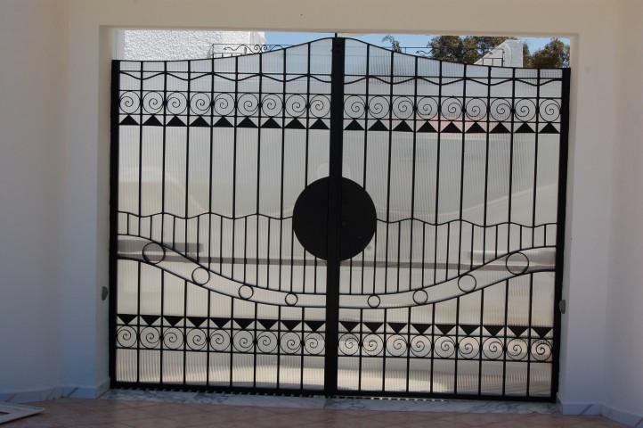 Grille de porte d 39 entr e trouvez le meilleur prix sur for Porte fer forge en tunisie